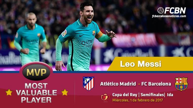 """Leo Messi, el """"MVP"""" del Barça ante el Atlético de Madrid"""