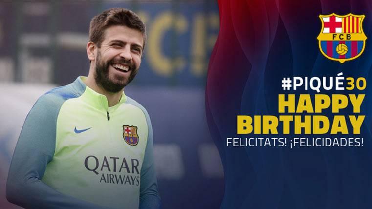 El Barça y España también felicitan a Gerard Piqué