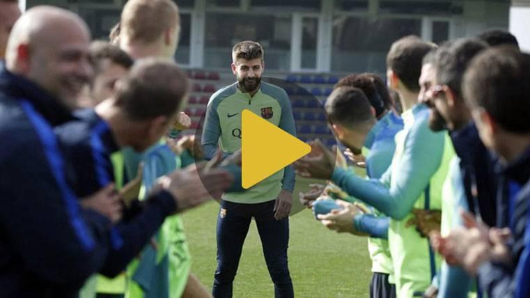 Así celebró la plantilla del Barça el cumpleaños de Piqué