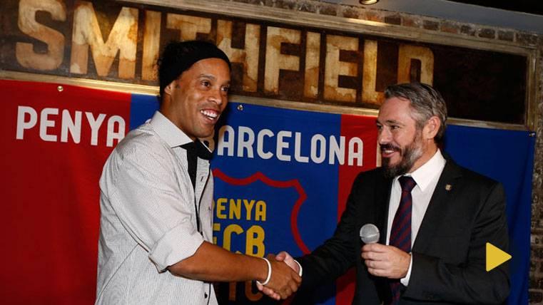 Ronaldinho Gaúcho, durante un acto del FC Barcelona en Nueva York