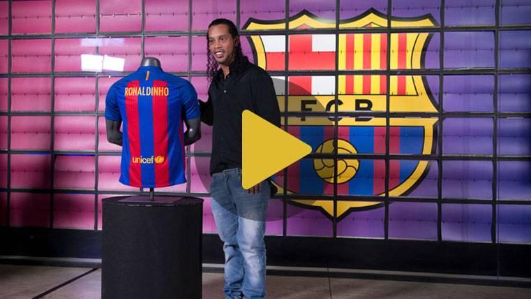 Ronaldinho entregará su Balón de Oro al Museo del Barça