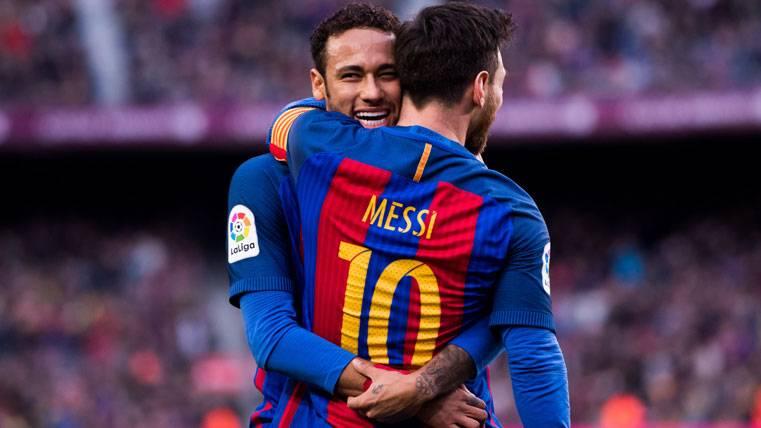 La MSN se picó: Messi remató una jugada coral de Ney y Suárez