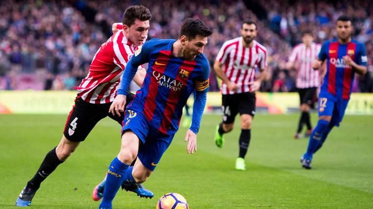 ¡Tercer gol de falta de Leo Messi al Athletic en 2017!