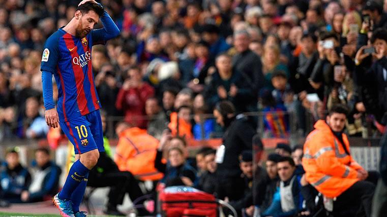 Leo Messi también fue sustituido ante el Athletic Club de Bilbao
