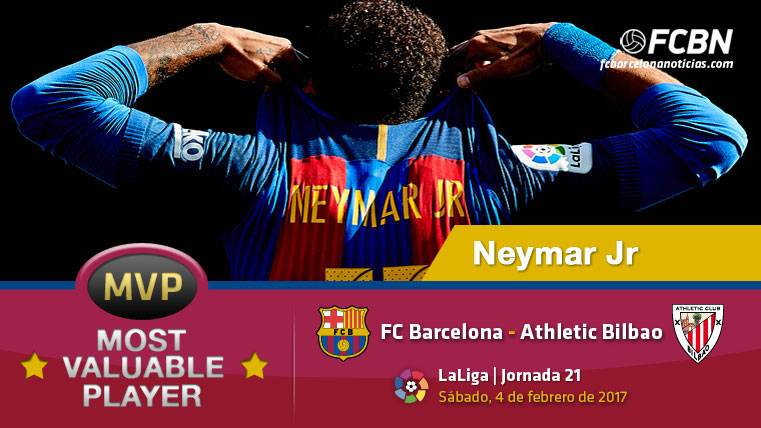 "Neymar Jr, el ""MVP"" del FC Barcelona contra el Athletic"