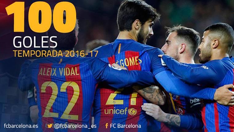 """El """"rescatado"""" Aleix Vidal firmó el gol 100 del FC Barcelona"""