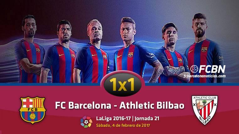 El 1x1 del FC Barcelona frente al Athletic de Bilbao