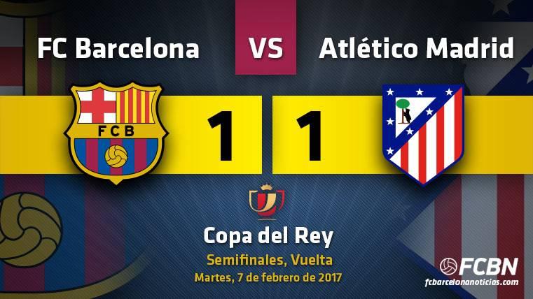 El Barça empató ante el Atlético de Madrid en la semifinal de Copa