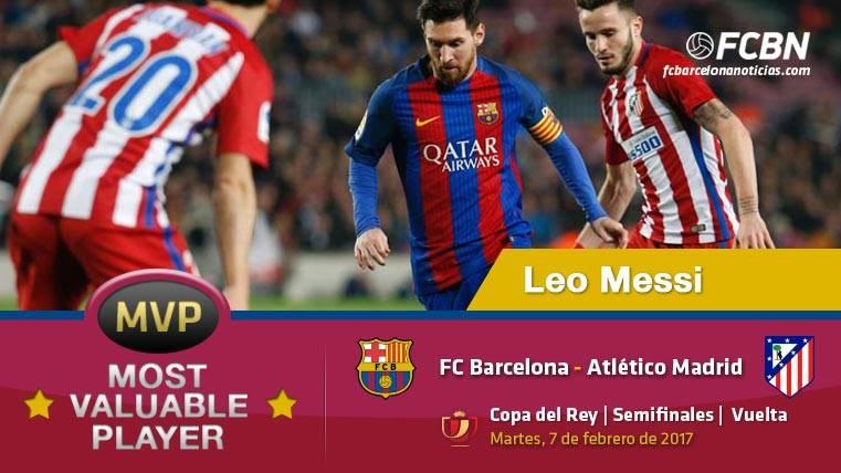 "Leo Messi, el ""MVP"" del FC Barcelona frente al Atlético"