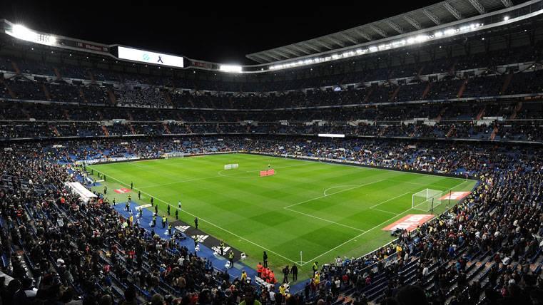El Santiago Bernabéu, antes de un partido del Real Madrid
