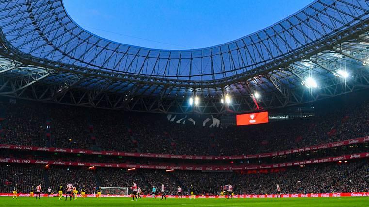 San Mamés, durante un partido del Athletic de Bilbao esta temporada