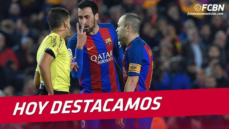 Bucle peligroso para el Barça por culpa de los árbitros