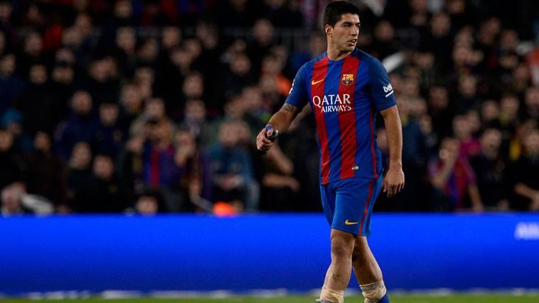 Luis Suárez, durante el partido contra el Atlético de Madrid