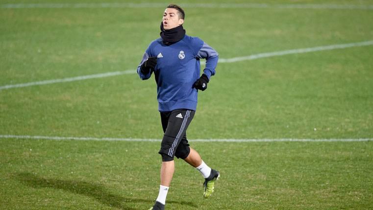 ¡Susto para Cristiano en el entreno del Real Madrid!