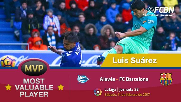"""Luis Suárez, el """"MVP"""" del FC Barcelona contra el Alavés"""