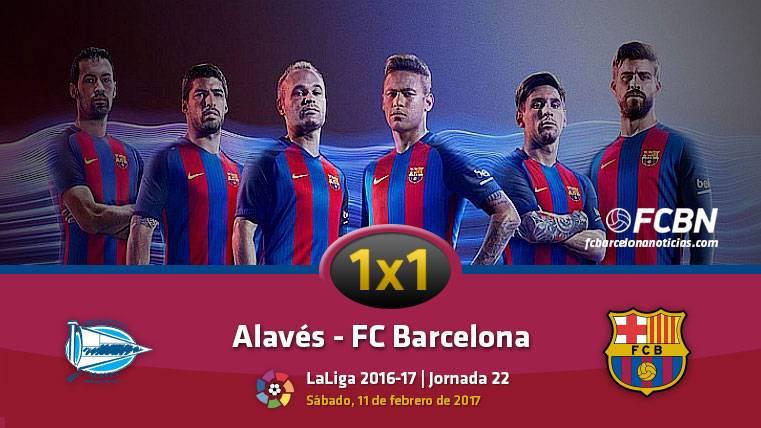 El 1x1 del FC Barcelona frente al Deportivo Alavés