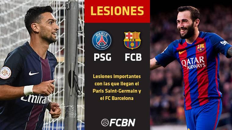 Las enfermerías de PSG y Barça serán claves en la eliminatoria
