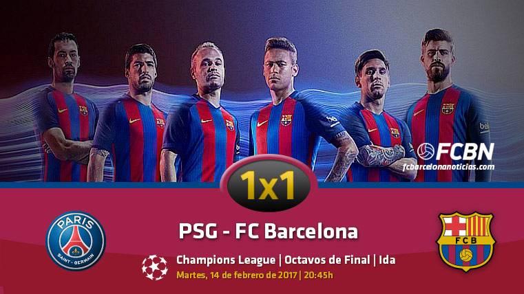 El 1x1 del Barcelona frente al PSG (Ida 1/8 Champions)