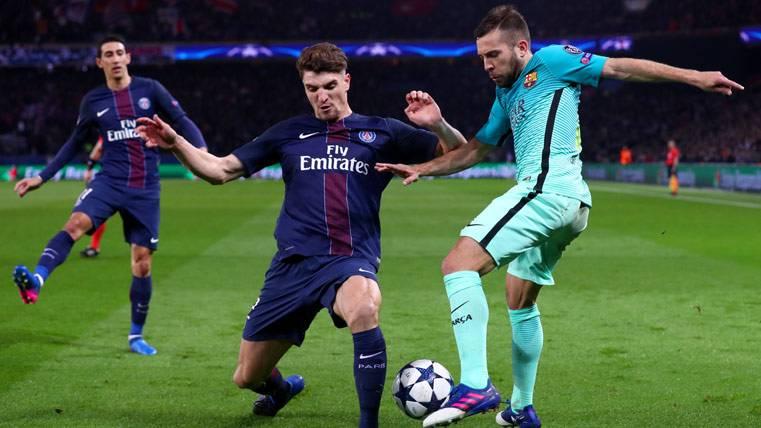 Meunier, durante el partido contra el Barça