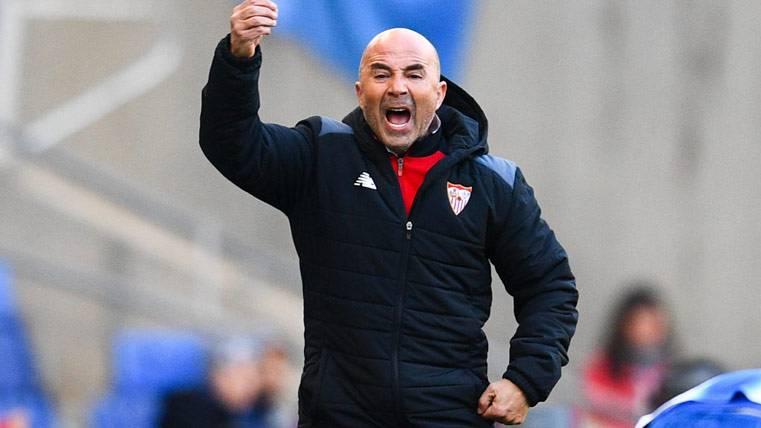 Jorge Sampaoli, durante un partido del Sevilla FC ante el Espanyol