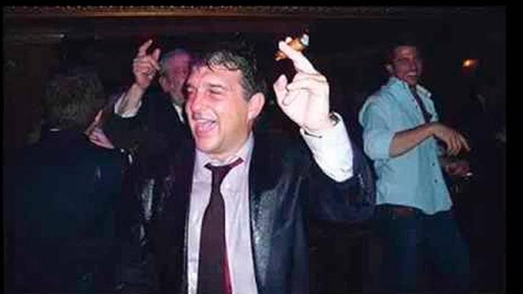 Sale a la luz la historia tras la foto de Laporta y el champán