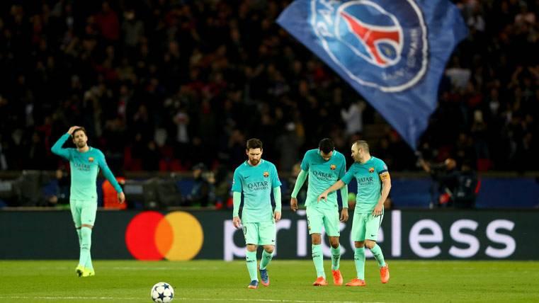 El FC Barcelona, dolorosamente derrotado en París