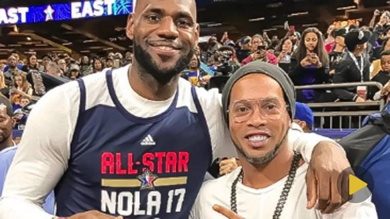 Ronaldinho, la estrella culé invitada en el NBA All Star