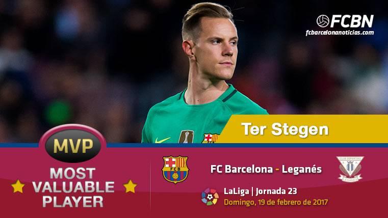 """Ter Stegen, el """"MVP"""" del FC Barcelona ante el Leganés"""