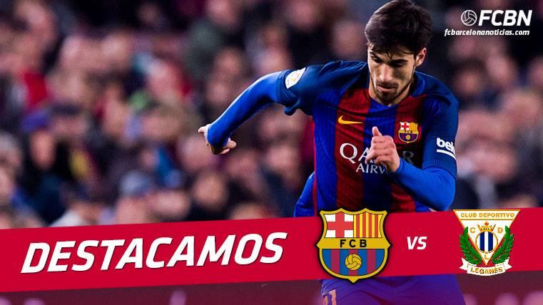 André Gomes: Diez pérdidas de balón en el Barça-Leganés