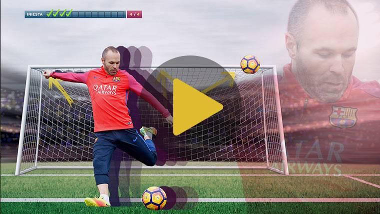 Andrés Iniesta acepta el reto: la magia del capitán del Barça