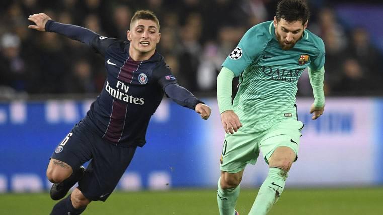 La postura del PSG en el posible traspaso de Verratti al Barça