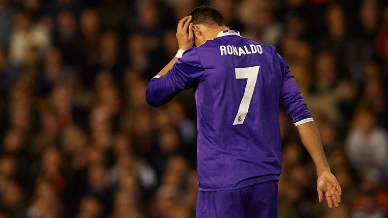 La ridícula jugada de Cristiano de la que se rió Mestalla