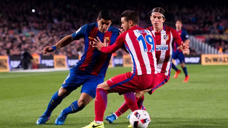 Luis Suárez, sediento de gol contra el Atlético en Liga