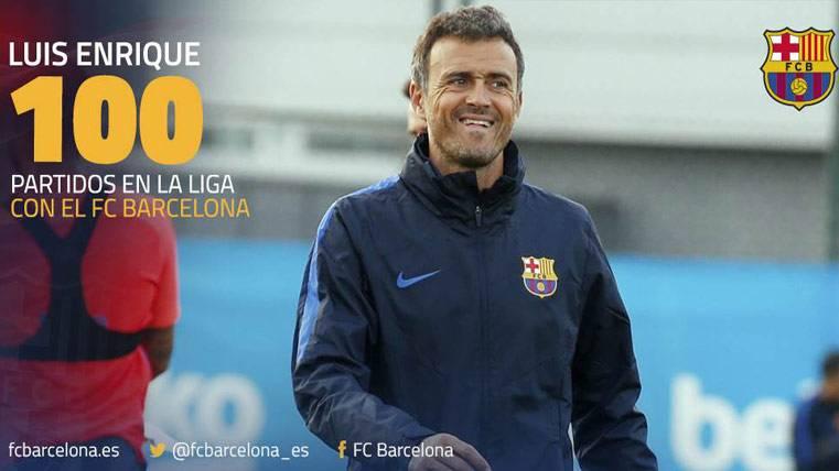 Centenario agridulce de Luis Enrique con el Barça en Liga
