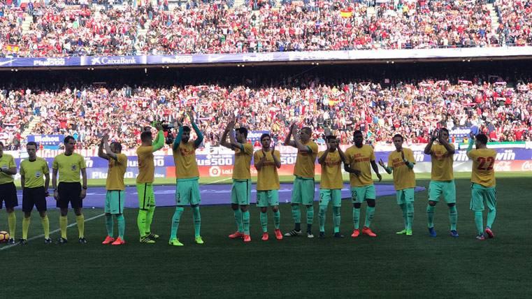 Bonito recuerdo del Barça con Aleix Vidal en el Calderón