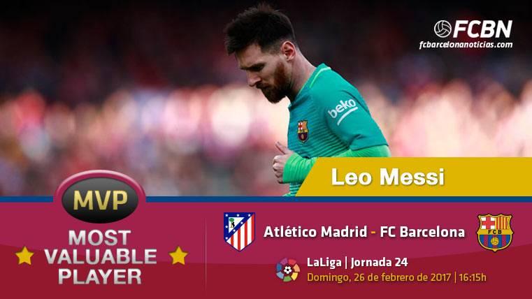 """Leo Messi, el """"MVP"""" del FC Barcelona contra el Atlético"""