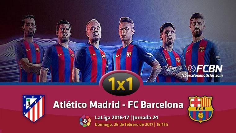 El 1x1 del FC Barcelona frente al Atlético de Madrid