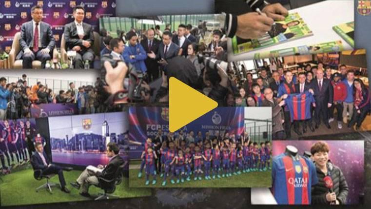 Éxito rotundo del viaje del Barça y Ronaldinho a China