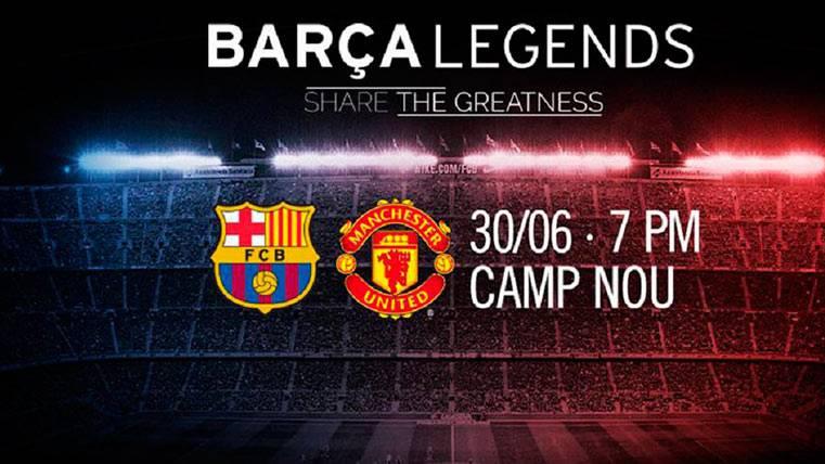 Barça vs Manchester United, un partidazo de leyendas