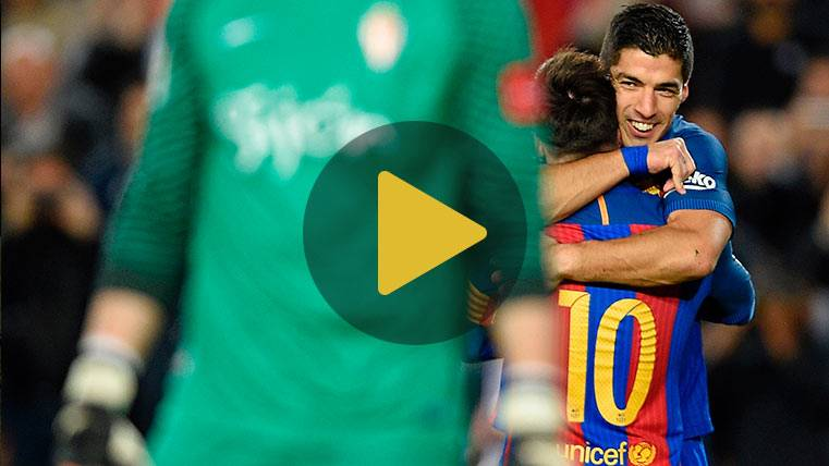 Vídeo resumen: FC Barcelona 6 Sporting 1 (Liga J25)
