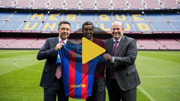 El CEO de Google se lo pasó en grande visitando al Barça
