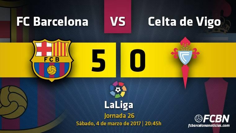 ¡Sí se puede! El Barça golea al Celta y avisa al PSG (5-0)