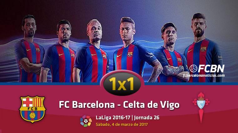 El 1x1 del Barcelona frente al Celta de Vigo (Liga J26)