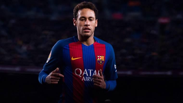 Neymar Jr, durante el partido del FC Barcelona frente al Celta