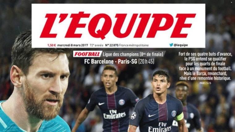 Leo Messi, protagonista de las portadas del Barça-PSG