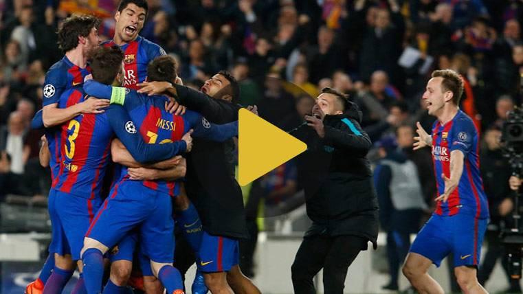 Vídeo resumen: Barcelona 6 PSG 1 (Champions)