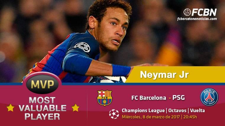 "Neymar Jr, el ""MVP"" del FC Barcelona frente al PSG"