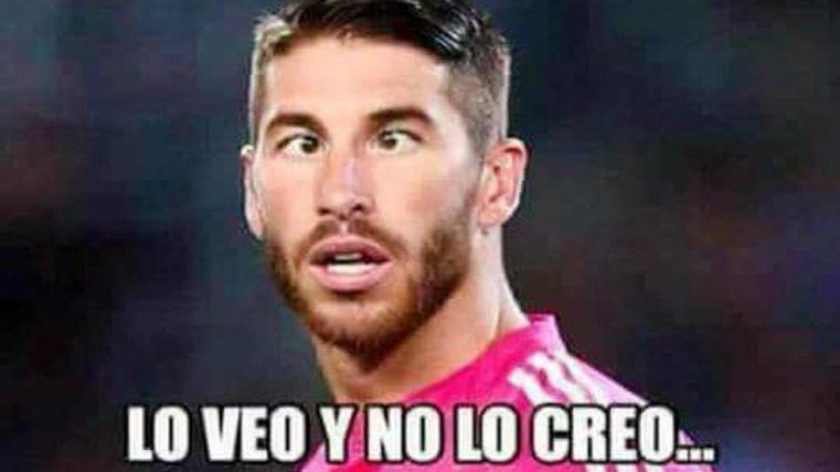 ¿Cómo habrá dormido Ramos tras la remontada del Barça?