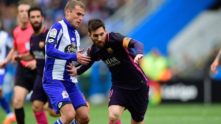 Leo Messi no pudo agitar la varita contra el Deportivo