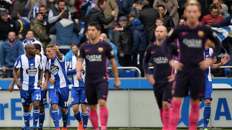 El FC Barcelona cayó derrotado contra el Deportivo en Riazor